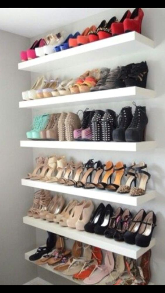 Replace the hole-y board in closet with place for shoes? or necklaces