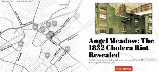 Révoltes à Liverpool en 1832 à cause du choléra. Une carte interactive