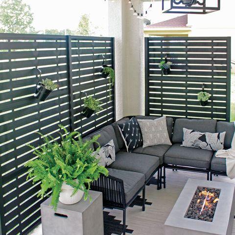 outdoor patio space decorative screen