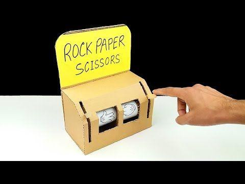 How To Make Rock Paper Scissors Play Machine From Cardboard Rock Paper Scissors Paper Machine How To Make Rocks