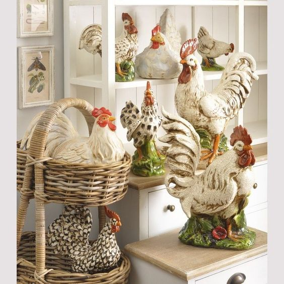 Kitchen Decor With Roosters: Roosters, Ceramics And Sculpture On Pinterest