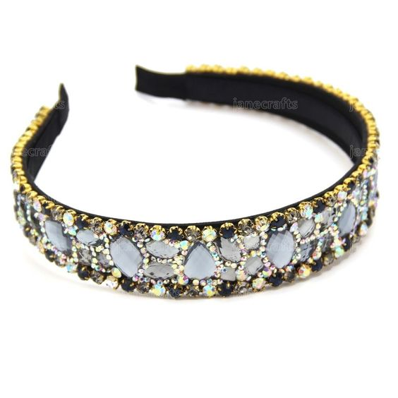 Great looking bling band covered with felt cloth and no inner teeth and will not make your hair messy. Very bling bling to make you more fashion and attractive. High quality wide rhinestone band! We also can source many products for you. | eBay!