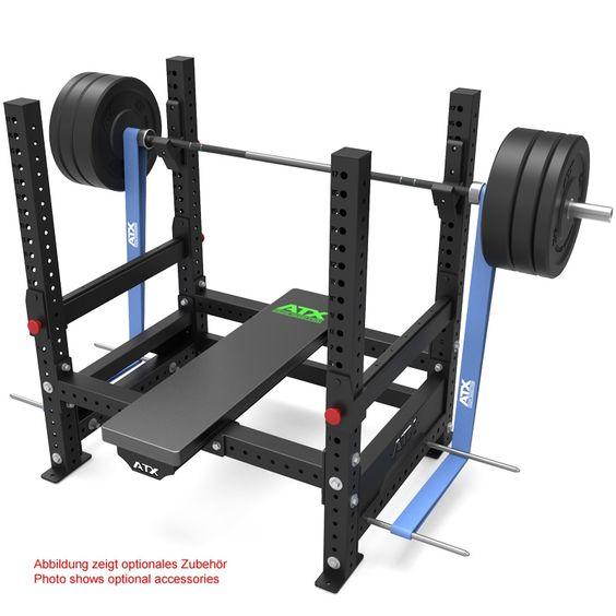 Die ATX® Power Bench Rack ist ein ideales Kraftgerät für den professionellen Athleten. Es besitzt massive Barbell-Hooks, hoch belastbare Sicherheitsnotablagen und Befestigungsmöglichkeiten für Bandbolzen. #atxpower #atx #powerbenchrack http://www.megafitness-shop.info/Kraftsport/Kraftgeraete-nach-Marken/ATX/ATX-Power-Bench-Rack--3724.html