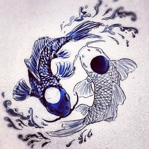 Pinterest the world s catalog of ideas for Yin yang fish tattoo