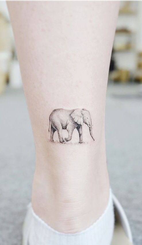 30 Female Ankle Tattoos For Inspiration Pictures And Tattoos In 2020 Elephant Tattoo Small Simple Elephant Tattoo Elephant Tattoo Meaning