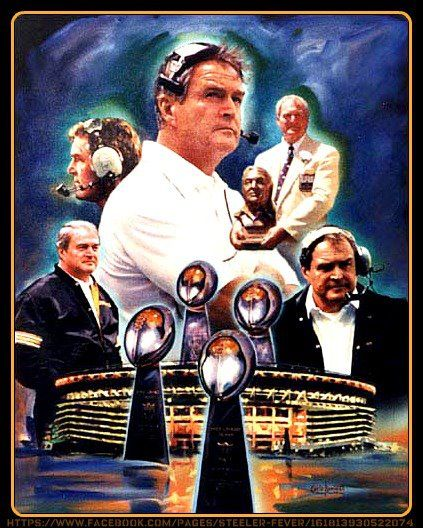 Legendary Steelers coach, Chuck Noll. Four time Super Bowl winner . Born in Ohio. Rest in peace, Coach. Thanks for memories of a lifetime .