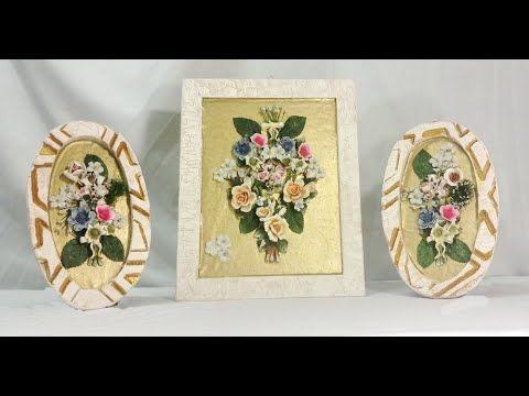 ورد سيراميك على خلفية جلد تابلوه مميز Youtube Decorative Boxes Decorative Plates Decor