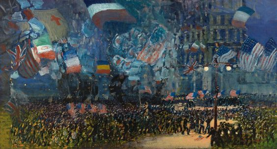 George Luks, Armistice Night, 1918, Oil on canvas