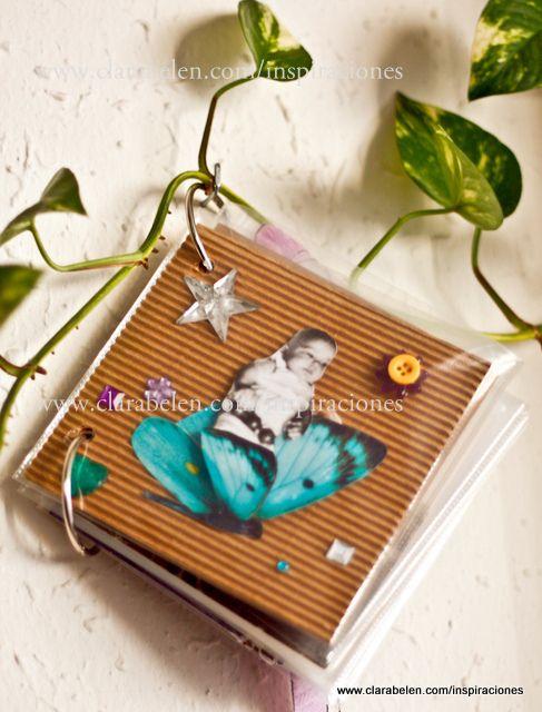 Lbum de fotos casero con fundas de cd tablerito pinterest album - Hacer un album de fotos casero ...