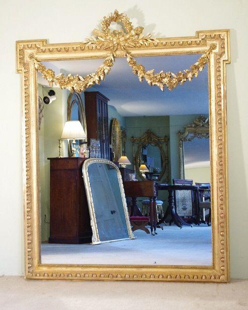 A Decorative 19th Century French Gilt Louis Xvi Style Antique Wall Mirror Mirror Design Wall Antique Mirror Wall Modern Mirror Wall