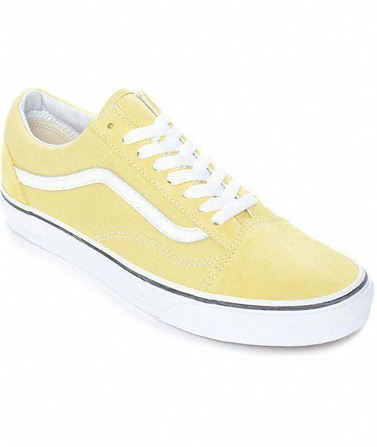 Yellow vans, Vans old skool, Vans shoes