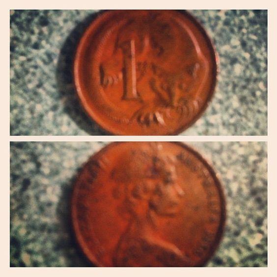 Day 3 - coin, #1966 Australian one cent coin - #photoadayaug