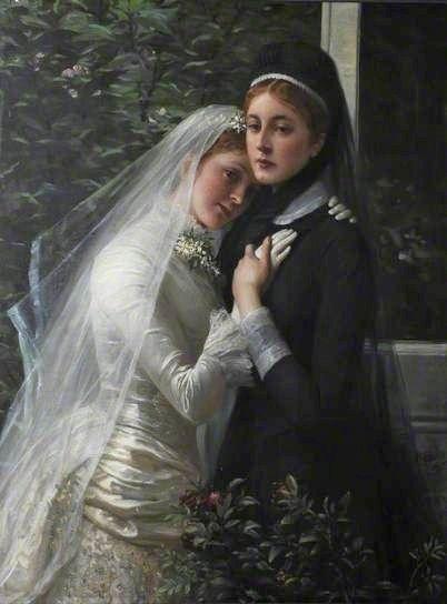 """Sisters"", 1880s, by Phillip Richard Morris (British, 1836-1902).:"