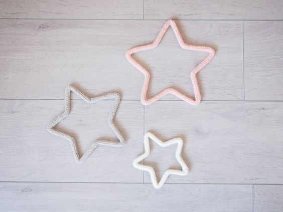 Trio of stars in knitting by ALittleL on Etsy