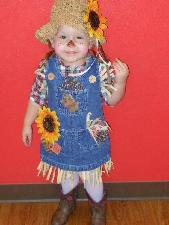 My little girl was a scarecrow. I made the costume myself and it was a big hit!