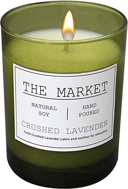 Amazon.com: Scentsational THE MARKET Revitalizing Aromatherapy Essential Oil Scented Soy Candle (Crushed Lavender): Home & Kitchen