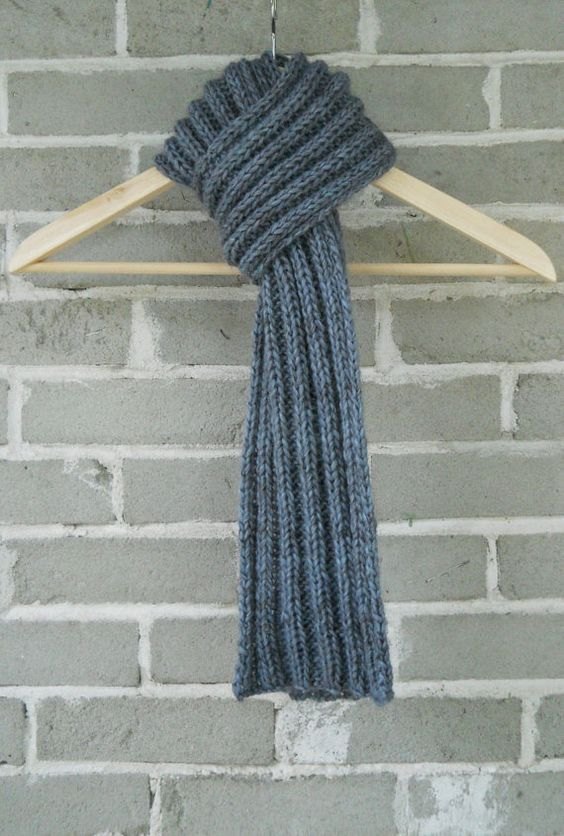 The City Scarf  Hand Knit Luxe Alpaca Wool by OopsIKnittedAgain, $55.00