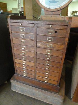 VIntage oak industrial document drawers #eBay