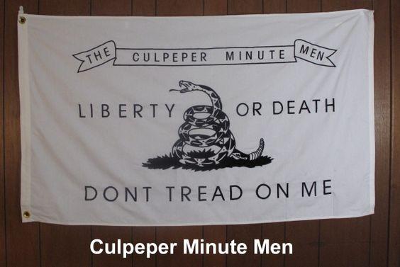 Revolutionary War Flags | revolutionary war the culpeper minute men revolutionary war flag