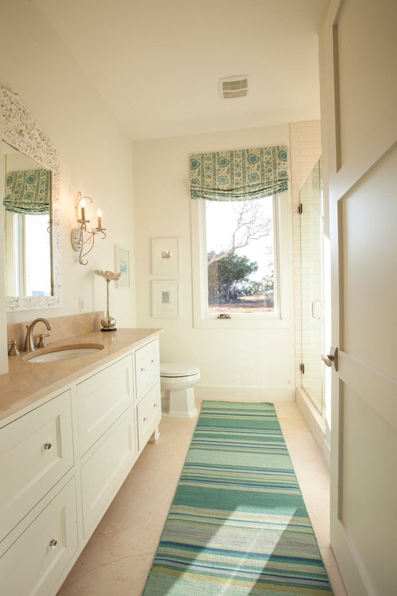 House of turquoise southern living showcase house for Southern bathroom ideas