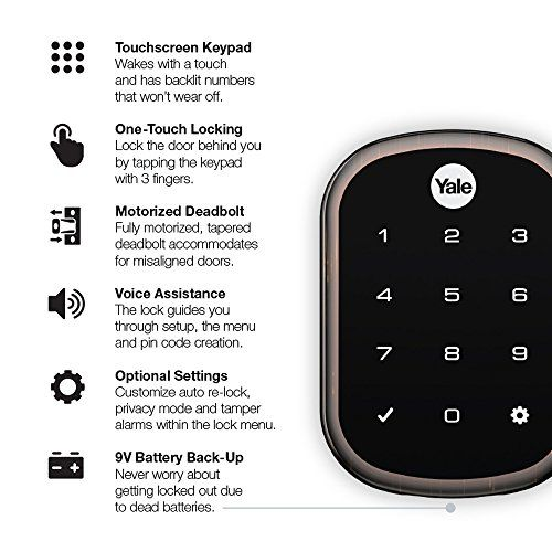 Yale Assure Lock Sl With Z Wave Plus Key Free Door Lock With Touchscreen Keypad Works With Smartthings Wink And Mo Smart Door Locks Smartthings Door Locks