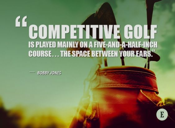 Competitive golf quote