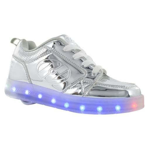 Silver Light Up Premium 1 Lo Heelys Roller Shoes Justice Shoes Girls Shoes