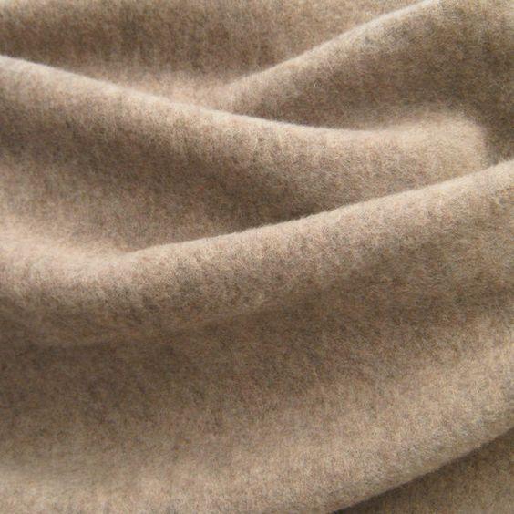 kbT-Wollfleece savanne-meliert, GOTS - Siebenblau