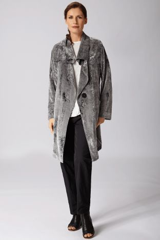 Drape Convertible Duster in Fog Front