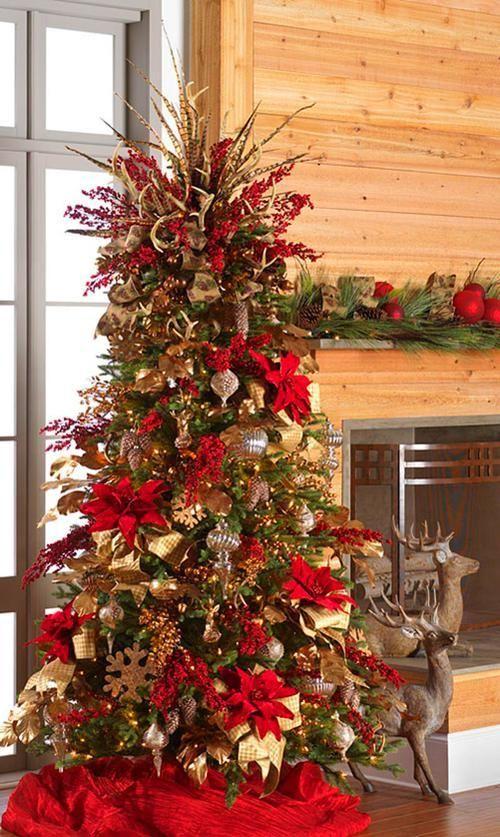 Diy Tree Topper Elegant Christmas Trees Beautiful Christmas Trees Red And Gold Christmas Tree