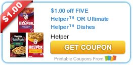 Tri Cities On A Dime: SAVE $1.00 ON 5 HELPER OR ULTIMATE HELPER DISHES