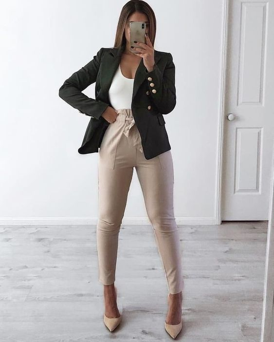 estilo casual com blazer preto