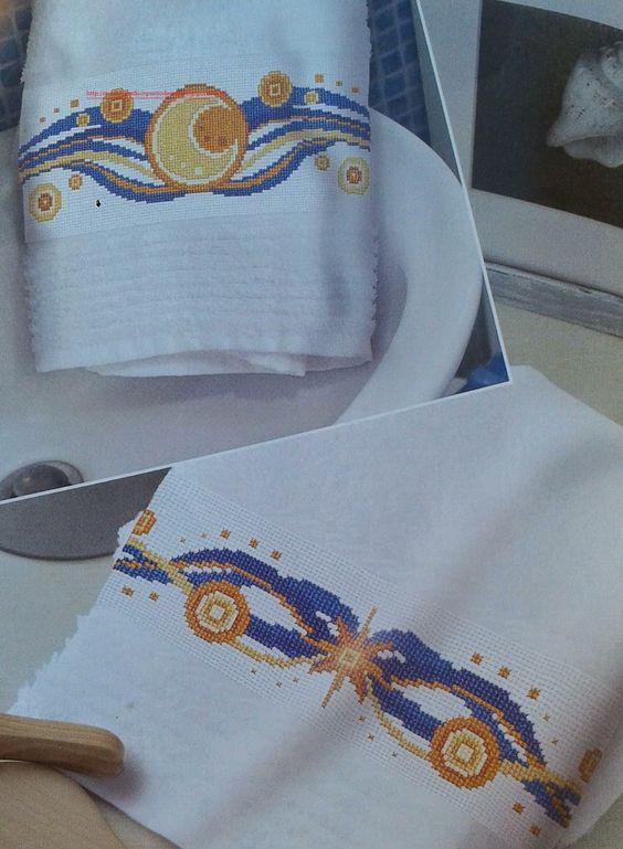 Graficos punto de cruz gratis toallas pa os cocina 37 for Apliques para toallas