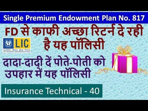 Lic Single Premium Endowment Plan No 817 In Hindi Life Insurance