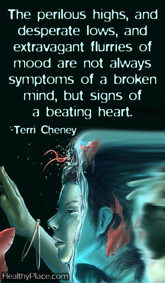 Mental health stigma quote - The perilous highs, and desperate lows, and extravagent flurries of mood are not always symptoms of a broken mind, but signs of a beating heart.: