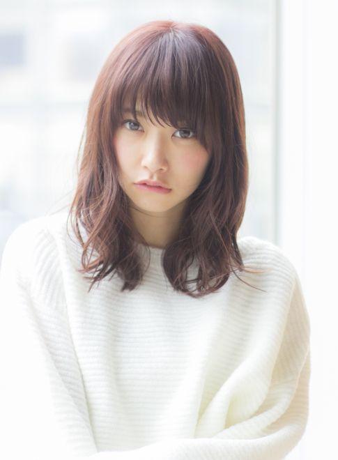 大人女子のピンクアッシュミディアム(髪型ミディアム)【2019