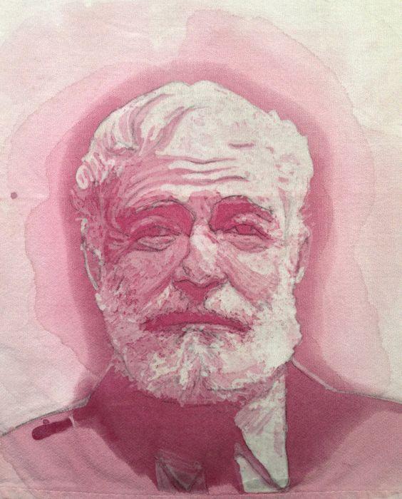 Le macchie di vino come arte: Amelia Fais Harnas #art #wine #Hemingway