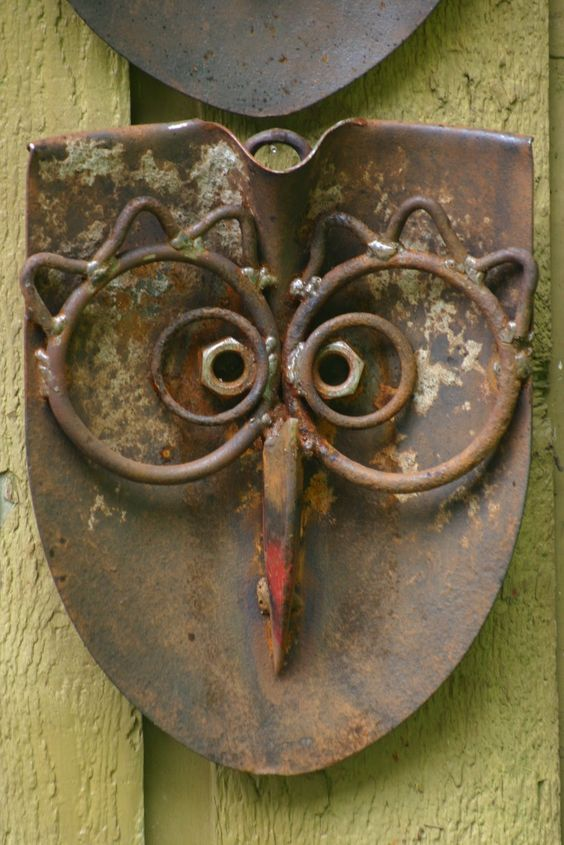 Owl from a shovel head