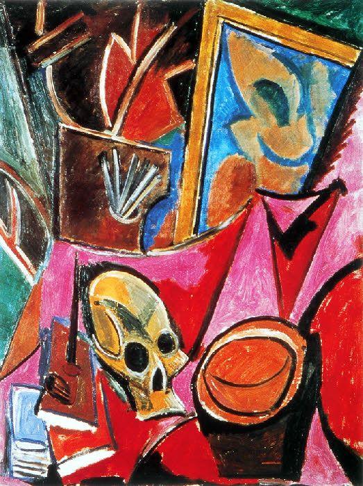 Composition à la tête de mort   Pablo Picasso