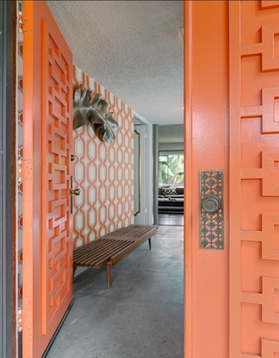 modern door atomic ranch and mid century modern on pinterest