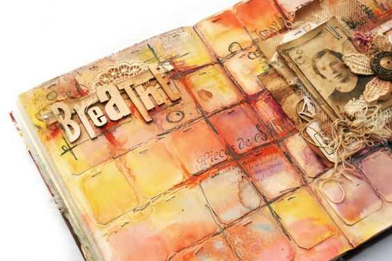 """Life Book 2014 - Week 33 - """"Breathe"""" Journal Page Exercise with Finnabair - willowing & friends"""