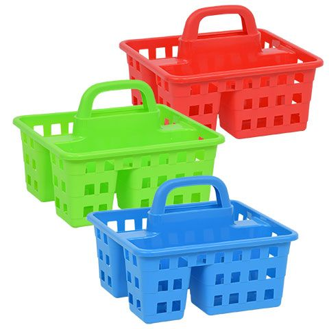 Divided 3 Compartment Plastic Caddies 10x8 75x7 5 In Office