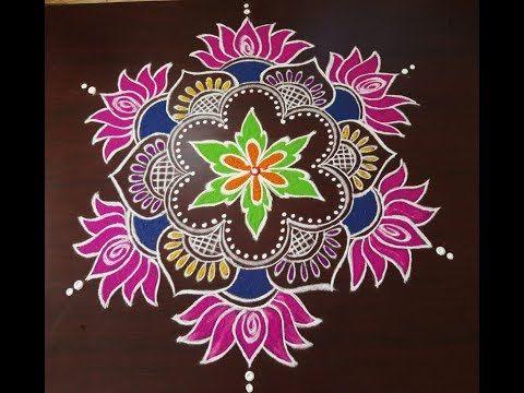 New Year Special Rangoli Design 2019 Easy Muggulu For New Year 2019 Sankranthi Lotus Kolam Youtube In 2020 Special Rangoli Rangoli Border Designs Rangoli Designs