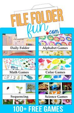 100+ Free File Folder Games!  Search by Grade or Theme.  Preschool-Third Grade, Tons of Thematic Games for History, Social Studies, Character and more!