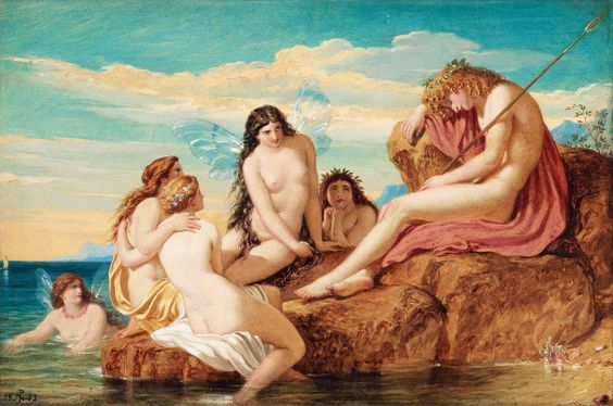 """Dionysus and Sea Nymphs"" by Joseph Noel Paton (1853).  http://en.wikipedia.org/wiki/Joseph_Noel_Paton"