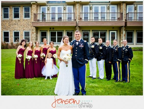Army wedding inspiration
