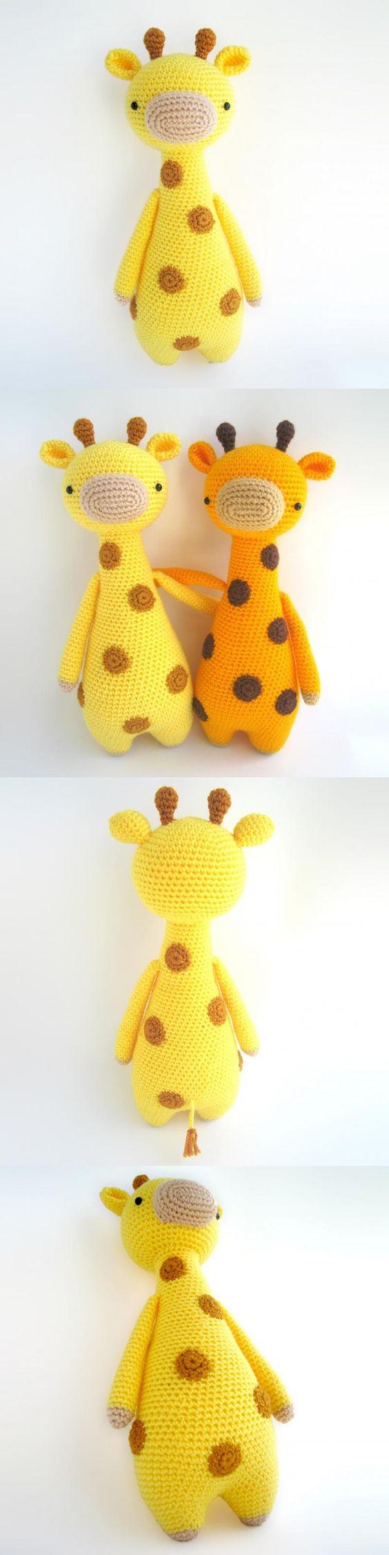 Tall Giraffe With Spots Amigurumi Pattern ༺✿Teresa Restegui http://www.pinterest.com/teretegui/✿༻