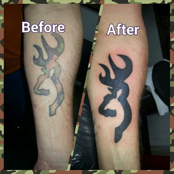 Reworked browning deer tattoo tattoos by jud at 7 sins for Browning tattoos for couples