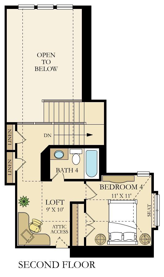 Giallo Ii Home Within A Home New Home Plan In Crescent Bluff Brookstone Ii New House Plans House Plans Small House Plans