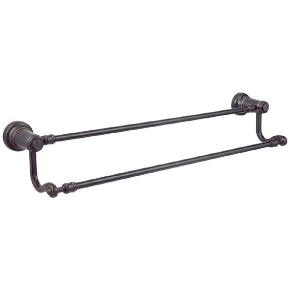 Pfister Ashfield Tuscan Bronze Double Towel Bar  Common  24 in  Actual. Towel bars  Lowes and Bar on Pinterest